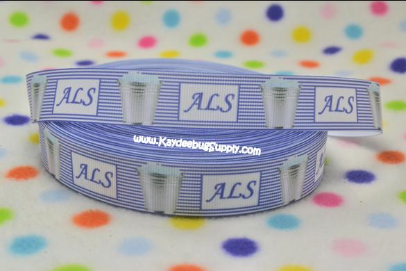 ALS - Ice Bucket - Amyotrophic Lateral Sclerosis - 7/8 inch-awareness, support, cure, fundraiser, Amyotrophic lateral sclerosis, Amyotrophic, lateral, sclerosis, ALS, disease, nerve, cells, brain, spinal, cord, Lou Gehrig's disease, Lou, Gehrig's disease