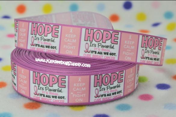 Breast Cancer Awareness - Hope Its All We Got -1 inch-breast, cancer, pink, ribbon, october, awareness, month, fundraiser, keep, calm, fight,