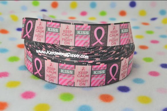 Breast Cancer Awareness - Keep Calm and Fight On -1 inch-breast, cancer, pink, ribbon, october, awareness, month, fundraiser, keep, calm, fight,