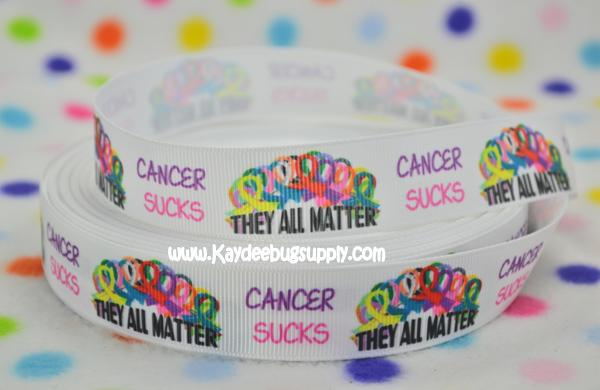Cancer Sucks - They All Matter - 7/8 inch-cancer, sucks, suck, support, fundraiser, awareness