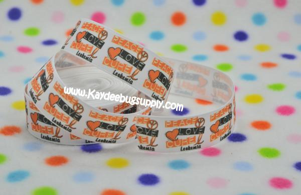 Leukemia Awareness - Orange Ribbon - Peace Love Cure 1 inch-leukemia, orange, ribbon, cancer, awareness, month, peace, love, cure, support, fundraiser, support,