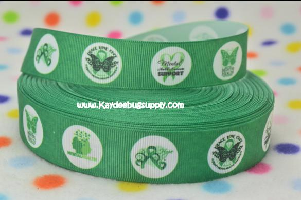 Mental Health Awareness - GREEN - 7/8 inch-awareness, fundraiser, cure, mental, health, support,
