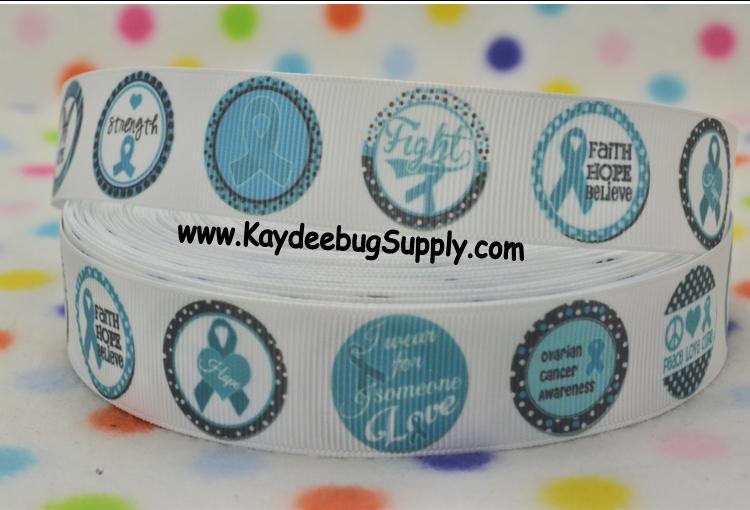 Ovarian Cancer Awareness - 7/8 inch-awareness, support, cure, ovarian, cancer,