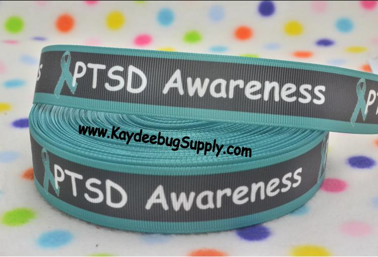 PTSD Post Traumatic Stress Disorder Awareness - 7/8 inch-awareness, support, cure, support, fundraiser, soldier, war, trauma, PTSD, post, traumatic, stress, disorder, mental, illness, depression,