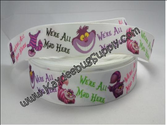 Alice In Wonderland - We're all Mad Here - Cheshire Cat - 7/8 inch-alice in wonderland, alice, wonderland, disney, movie, queen of hearts, mad hatter, cheshire, cat, white rabbit, tweedle dee, dum, tweedle, dee,  dinah, rose and the flowers, march hare,