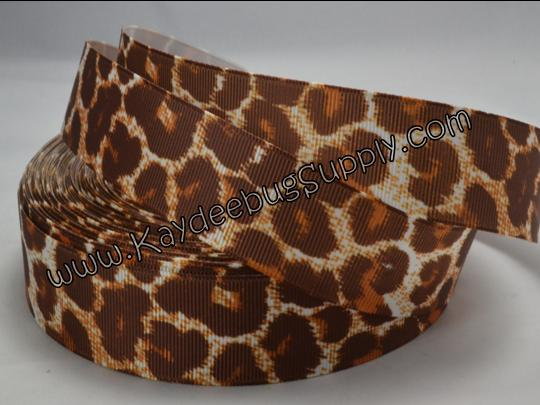 Leopard Animal Print - Brown - 1 inch ( 25mm )-leopard, zebra, animal, print, prints, brown