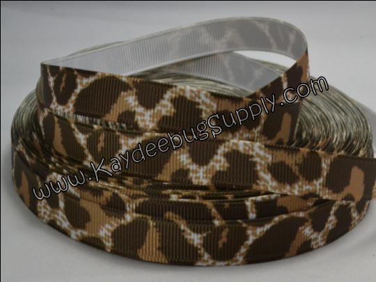 Leopard Print - Brown - 3/8 inch-animal, print, leopard, cheetah, brown