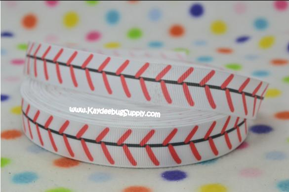 Baseball Stitches - WHITE - 7/8 inch-baseball, stitches,