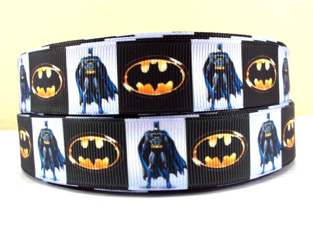 Batman - Fullbody & Logo - 7/8 inch ( 22mm )-batman, super, hero, superhero, bat, man, logo, joker, boys, boy, ribbon
