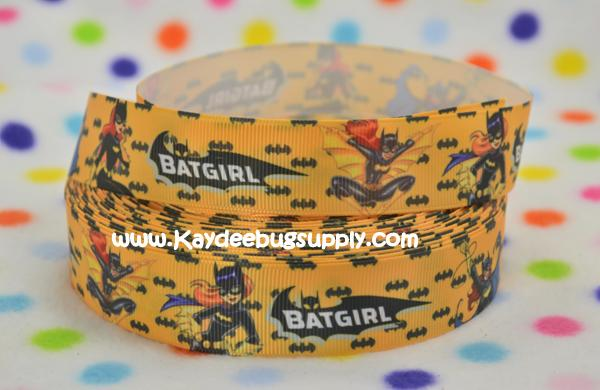 Batgirl Yellow - 1 inch-bat, girl, batgirl, batman, 25mm, girly,