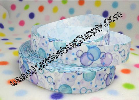 Blue & Purple Bubbles - 7/8 inch-blue, bubbles, frozen, sisters, anna, elsa,