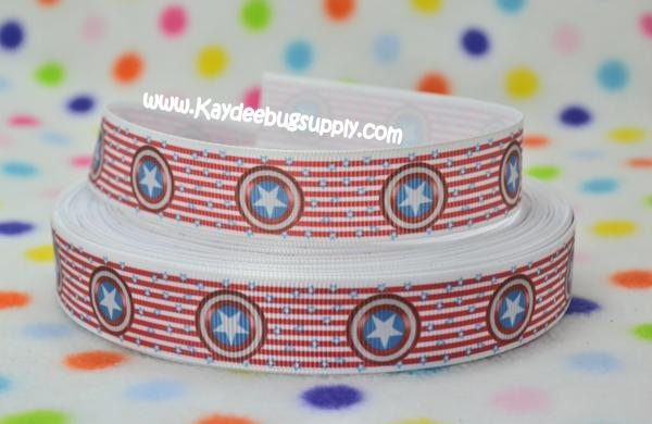 Captain America - Shield - Red White Stripe - 7/8 inch-captain, america, superhero, super, hero, heroes, superheroes, comic, book, boys, boy, movie,
