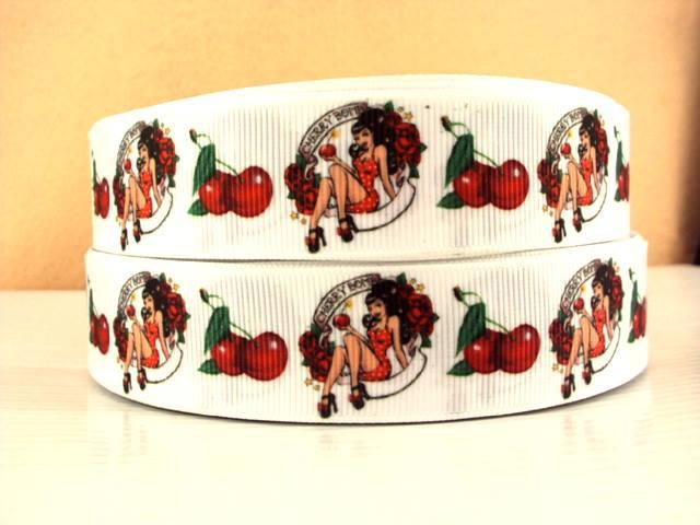 Cherry Bomb - 1 inch-chery, bomb, red, cherries, cherry, sexy, lady, girl, marilyn, monroe, betty, boop