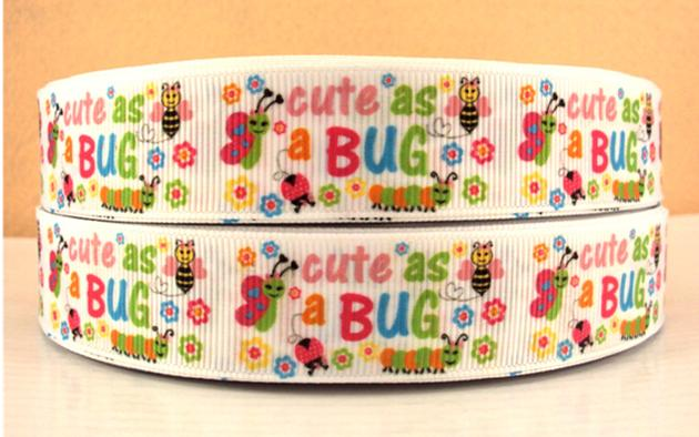 Cute As A Bug - 7/8 inch-cute, peacock, feather, feathers, animal, animals, mardi, gras, girly, turquoise, purple, green, lady, bug, ladybug, ladybugs, butterfly, butterflies, spring, multi, color, rainbow, multicolor