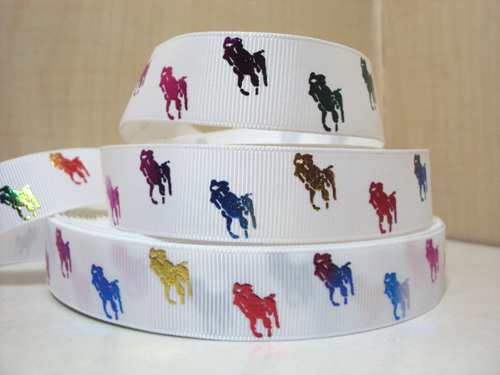 Designer - Polo Horse - Rainbow Multicolored - FOIL Metallic - 7/8 inch-, designer, inspire, inspired, preppy, tartan, juicy, couture, pink, rose, multi, rainbow, multicolor, multicolored, color, colored, black, gold, RL, ralph, lauren, polo, polos, horse, horses, designer, preppy, nautical, prep, equestrian, water, pink, green, rainbow, multicolor, multi, colored, color, pretty, girl, white, yellow, green, red, blue, orange, bright, fun, foils, metallic
