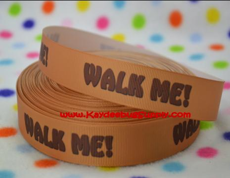 Walk Me - Brown - 7/8 inch-dog, collar, walk, me, walk me, pet