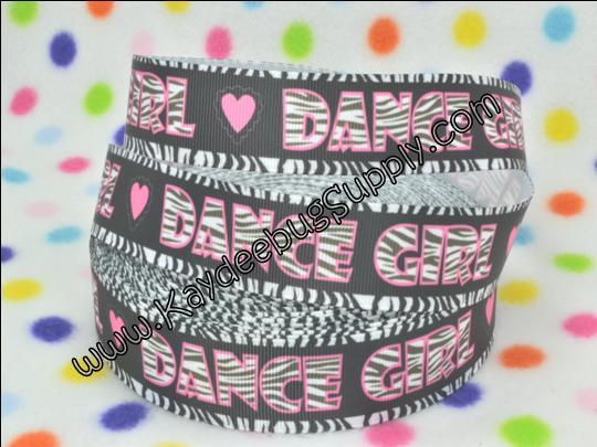 Dance Girl - 1 inch-sport, sports, teams, team, girl, girly, neon, base ball, baseball, soft, ball, dance, girl, ballet, ballerina, zebra, print, black, white, pink, gymnast, gymnastics,  dancer, hip, hop, cheer, girl, bow,