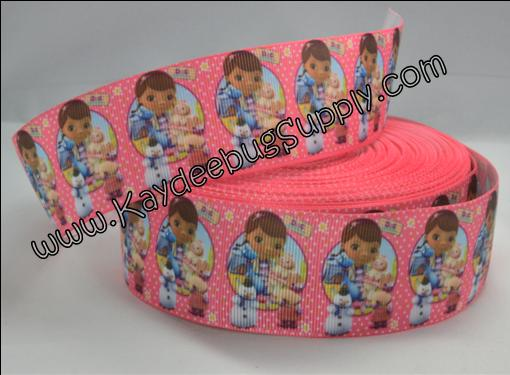 Doc McStuffins - PINK - 1.5 inch-doc, mcstuffin, mcstuffins, mc stuffins, bag of boos, boos, bag, clinic, disney, ethnic, black, doll, lambie, doctor, Flatback, Resin, Cabohcon, Bow, Centers, Appliques, Charms, Pendant , bandaid, dot, dots, polka, turquoise, purple, ribbon, black, african, american, doll, ethnic, brown,38mm