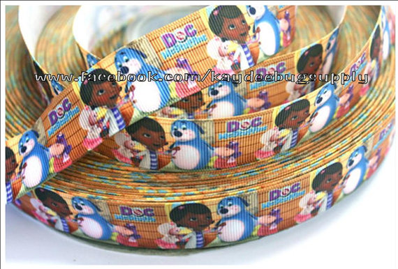 Doc McStuffins at the Clinic - 1 inch-doc, mcstuffin, mcstuffins, mc stuffins, bag of boos, boos, bag, clinic, disney, ethnic, black, doll, lambie, doctor, Flatback, Resin, Cabohcon, Bow, Centers, Appliques, Charms, Pendant