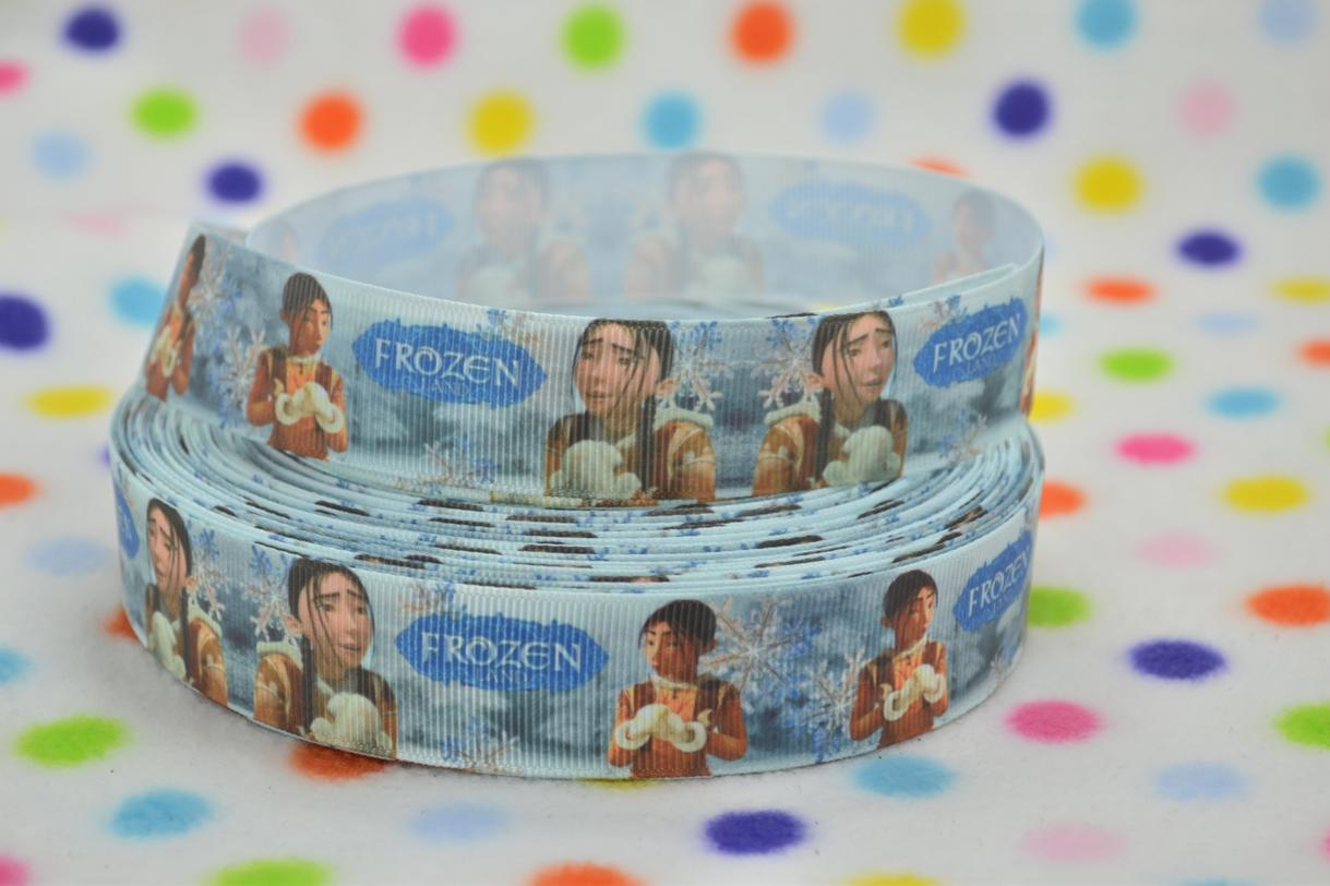 Frozen Guy - 1 inch-snow, winter, ribbon, movie, frozen, guy, disney, movie, ribbon,