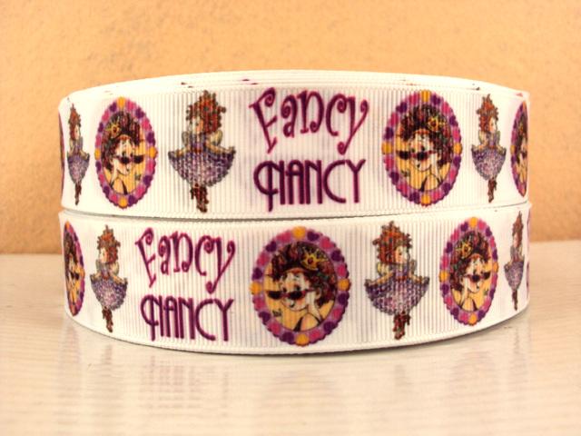 Fancy Nancy - WHITE - 1 inch-fancy, nancy, children's, childrens, clidren, picture, book, written, Jane, O'Connor, Oconnor , illustrated, Robin, Preiss, Glasser