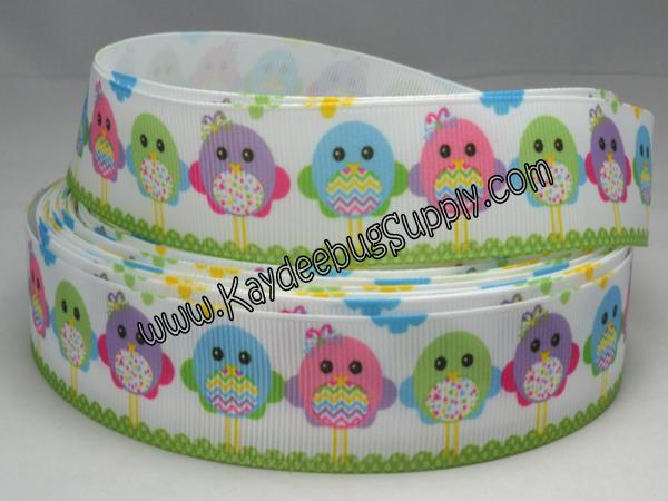 Easter Chicks w/ Bellies - Pink Green Blue Purple - 7/8 inch-easter, holiday, pink, green, grass, bunny, bunnies, rabbit, rabbits,