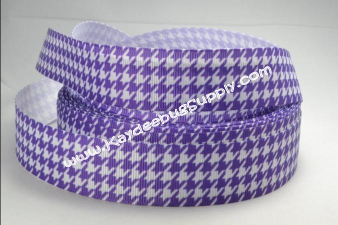 Houndsooth - PURPLE - 7/8 inch-hounds tooth check, hound's tooth, hounds, tooth, check, hound's, dogstooth, houndstooth, purple,