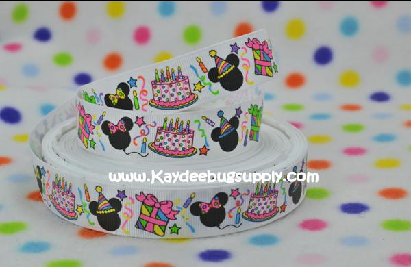 Happy Birthday - Mickey & Minnie Mouse - 7/8 inch-happy, birthday, bday, balloon, balloons, celebrate, NYE, years, mickey, minnie, mouse, balloon, balloons, presents, candles