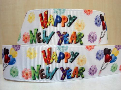 Happy New Year - WHITE - 1 inch-happy, new, year, 2014, celebrate, NYE, years,