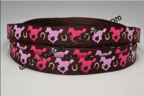 Horses Only - Brown - 3/8 inch-farm, animal, animals, horse, horses, country, cowgirl, girl,