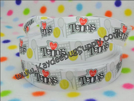 Tennis - I Love Tennis - 7/8 inch-sports, tennis, love, I love tennis, sport,