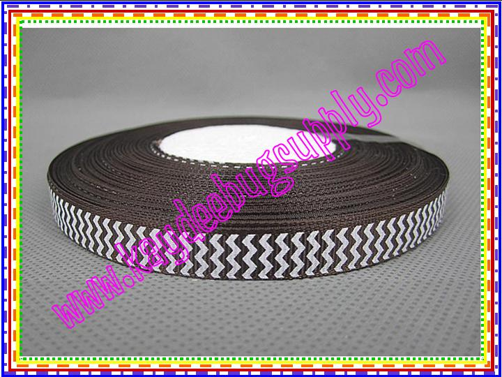 Chevron BROWN (9mm)-chevron, zig, zag, zigzag, zig zag, wavy, trim, 9mm, 9 mm,chocolate, dark, dk, brown, turftan