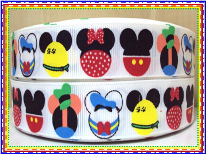 Mickey Mouse & Friends Heads - 7/8 inch-mickey, mouse, donald, duck, goofy, minnie, club, house, clubhouse, daffy, disney