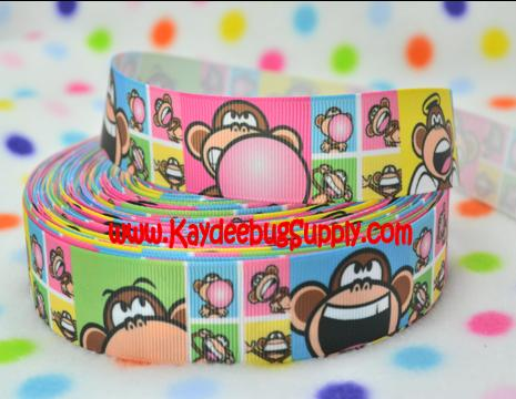 Bobby Jack - Bubble Gum Monkey - 1 inch-logo, designer, inspored, inspired, inspire, bobby, jack, bubble, gum, bubblegum, monkey, clothing, korean, brand