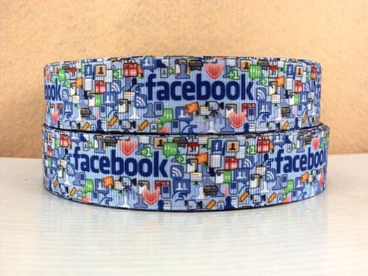 Facebook - BLUE - 1 inch-face, book, facebook, social, media,