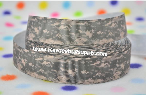 US Army Camo ACU Military - 7/8 inch-army, military, camo, digits, camouflage, green, war, support, support our troops