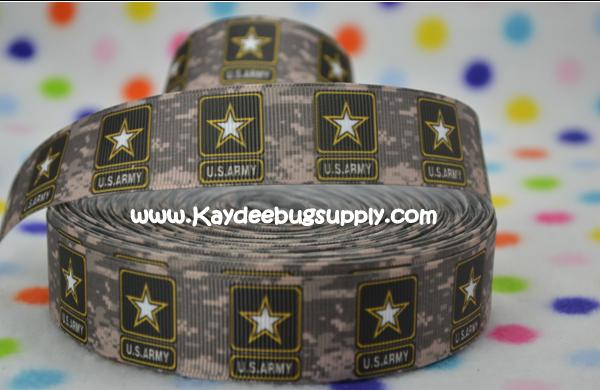 US Army Logo - 1 inch-army, military, camo, digits, camouflage, green, war, support, support our troops, troops, united, states,