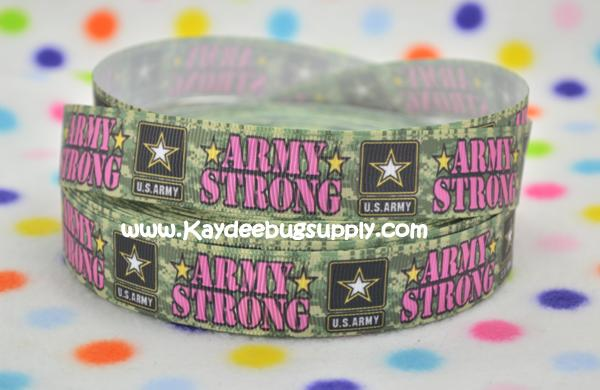 Army Strong - PINK - 7/8 inch-army, military, camo, digits, camouflage, green, war, support, support our troops, strong, pink,