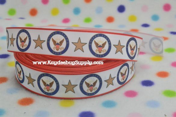 United States Navy - Red Border on White - 1 inch-, navy,, core, coast guard, army, military, camo, digits, camouflage,  war, support, support our troops, blue camo, navy, NWU, naval, academy,