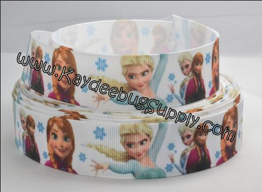 Frozen Movie - Anna & Elsa Snowflakes - WHITE - 1 inch-winter, frozen, movie, Kristoff, Duke of Weselton, Anna, Olaf, Elsa, Snow Queen, Mandrake, movie, disney,  purple, flowers,