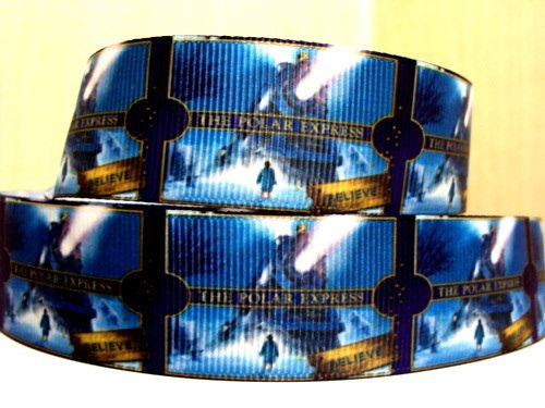 Polar Express Movie - 1 inch-xmas, holiday, santa, claus, st nick, nick, snow, winter, ribbon, christmas, polar, express, movie,