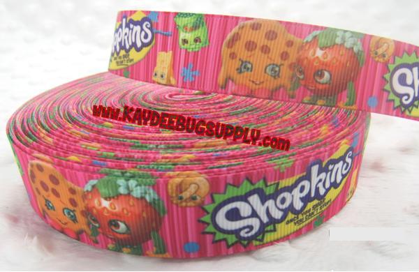 SHOPKINS - Pink -  1 inch-shopkins, shoppies,  Jessiecake, Popette, Bubbleisha, Cupcake Queen, Kooky Cookie, Strawberry Kiss, Gemma Stone, Apple Blossom, Breaky Crunch, Lippy Lips, Cheeky Chocolate