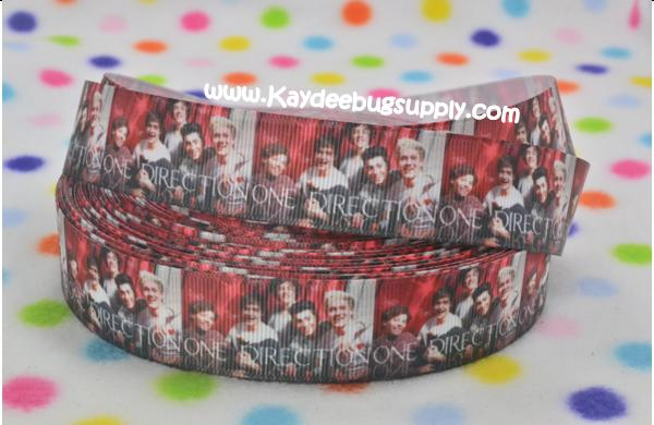 One Direction - Red - 1 inch-one direction, back, one, direction, 1D, boy, band, liam, louis,