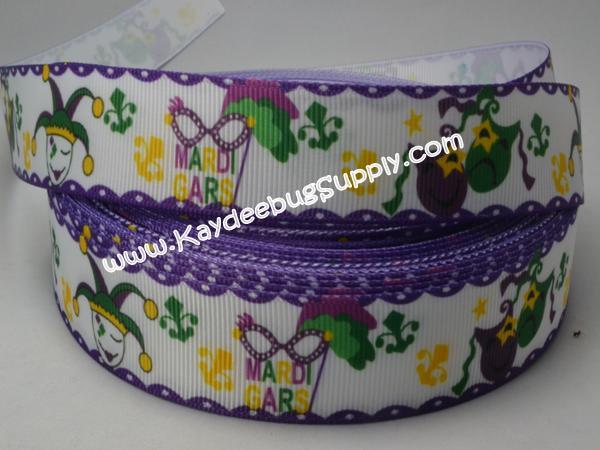 Mardi Gras - Masquerade Masks - 7/8 inch-mardi, gras, krewe, purple, green, yellow, festival, holiday, glitter, stripes, masks, masquerade