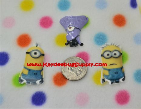 Despicable Me Minion - Flatback Resin Cabochon-despicable me, despicable, dispicable, minion, minions, movie, flatback, resin, flat, backs, resins, cabochons, cabochon, flatbacks, one, eye, eyed, monster, monsters, purple, stuart, bob, two,