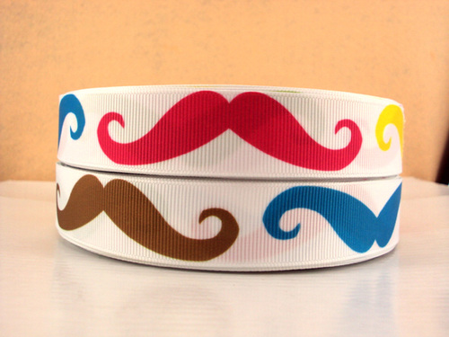 Mustache Multicolor (22mm)-multicolor, rainbow, neon, multi, color, stache, mustache