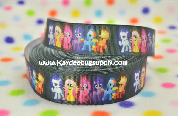My Little Pony - BLACK Background - 1 inch-mlp, little, pony, my little pony, princess, pony princess, friendship, magic, friendship is magic, celestia, pinkie, shy, pinkie shy, apple, jack, apple jack, rainbow, purple, cheer, bow, twilight, sparkle, rainbow dash, dash, fluttershy, flutter, butterfly, butterflies, butter, fly