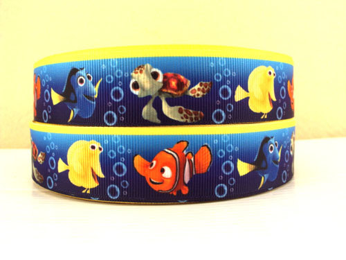 Nemo - Blue Background - 1 inch-nick, jr, jr., nickelodeon, bubble, guppies, fish, orange, guppy, water, nemo, boys, boy, clown, mermair, dori, dory, finding, guppeies,