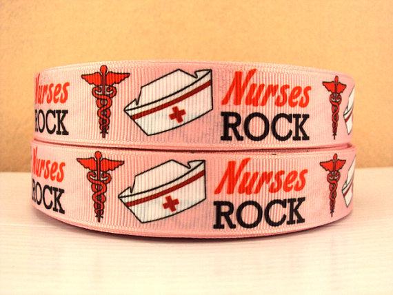 Nurses Rock - 7/8 inch-support, awareness, ribbon, nurses, pink, rock, cure, fundraising, nurse