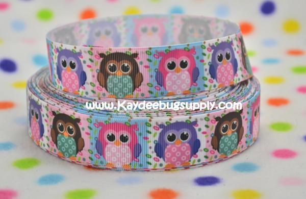 Owls - Pink Purple Brown - 1 inch-owl, owls, hoot, whoot, bird